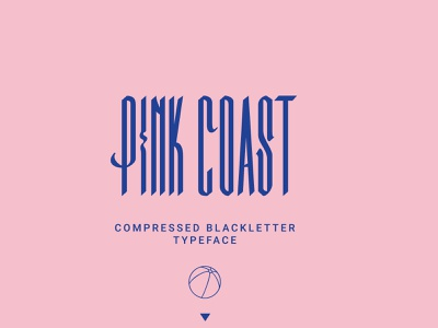 Pink Coast Typeface illustration graphic design hand lettering elegant font branding minimalist lettering typography
