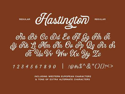 Hastington Script script fonts typeface cursive branding script lettering script font font retro lettering typography logo vintage
