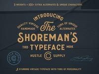 The Shoreman's Typeface vintage branding vintage type label design beer label hand lettering logo vintage typography vintage badge vintage font hand lettering display typeface vintage typeface