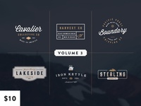 Vintage Logo Kit: Volume Three (on Creative Market)