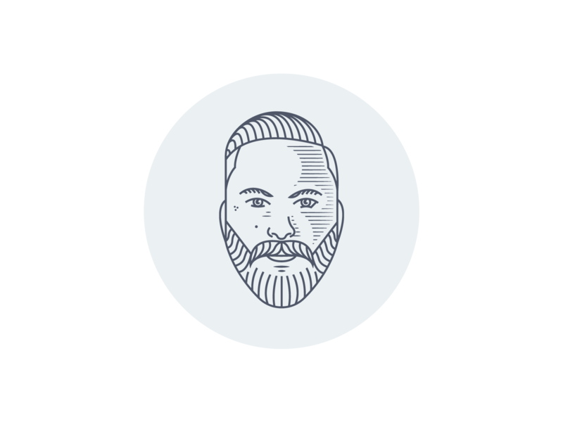 Self Portrait Illustration vector illustration logodesign branding character illustration face illustration face logo beard logo male face logo beard monoline face lineart illustration portrait self portrait