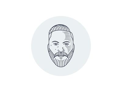 Self Portrait Illustration vector illustration logodesign branding character illustration face illustration face logo beard logo male face logo beard monoline face lineart illustration portrait self portrait