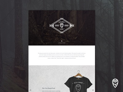 Landing Page for Calibre Club - Full View Attached