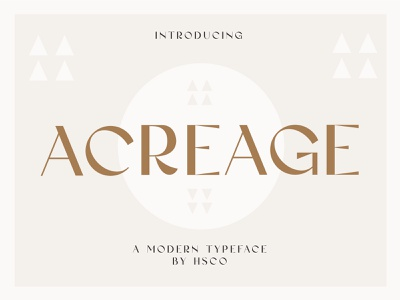 Acreage - A Modern Display Typeface fashion brand fashion luxury font contemporary font modern typeface modern logo contemporary bohemian branding boho