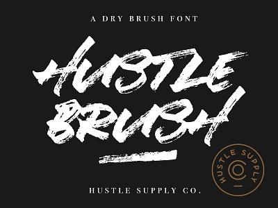 Hustle Brush - Available for sale on Creative Market gig poster hardcore punk rock hand lettering logo calligraphy brush typeface brush font typeface branding graffiti brush lettering dry brush