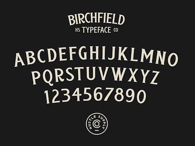 Birchfield Alphabet hand lettering vintage logo branding retro font typeface logo lettering typography vintage