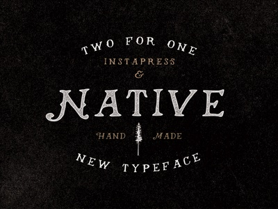 Native - A hand drawn typeface