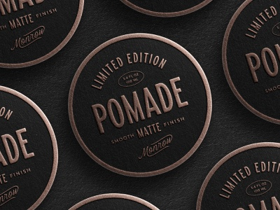 Pomade Concept masculine grooming barbershop logo vintage logo vintage type vintage label packaging barbershop pomade label branding mens grooming pomade