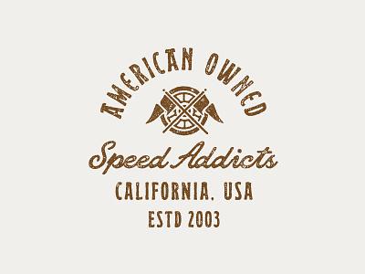 Shirt Concept for Speed Addicts branding motocross motocross shirt lockup label t shirt apparel design retro font logo lettering typography vintage