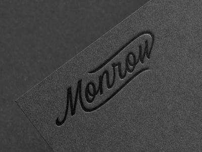 Monrow Logo Design vintage lettering cursive logotype branding script barbershop logo script type script logo logo lettering custom lettering