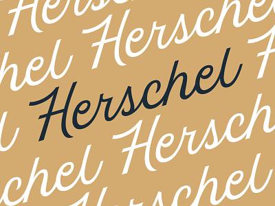 Herschel Lettering typography clean lettering clean script vintage logo vintage type wordmark script script logo logotype lettering logo lettering herschel