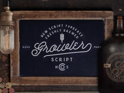 Growler Script is finally available! typography vintage lettering hand lettering script cursive mono weight brewery beer retro font typeface