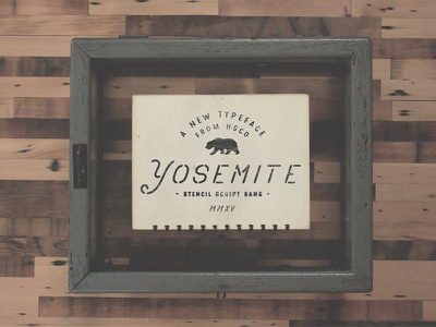 New Stencil Font! - Yosemite vintage lettering hand lettering script cursive mono weight brewery beer retro font typeface