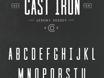 Cast Iron (Free Font) texture retro vintage logo condensed industrial typography vintage free free typeface free type free font