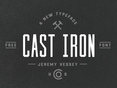 Cast Iron (Free Font)
