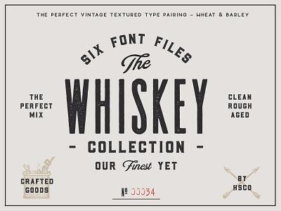 The Whiskey Font Collection font bundle whiskey label barley rye whiskey vintage branding vintage logo vintage type