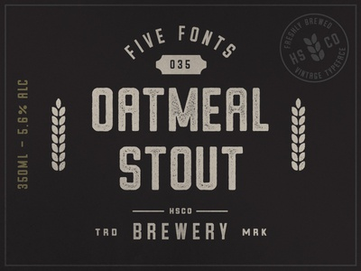 Oatmeal Stout (Font) - Available for Sale on Creative Market