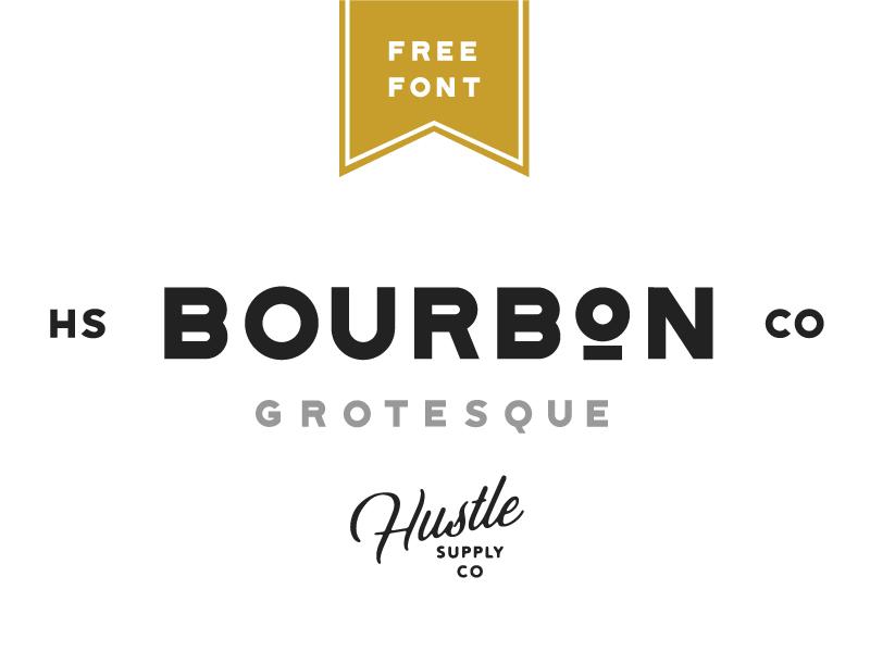 Bourbon Grotesque - Free Font label vintage logo free typeface free free font bourbon logo font typeface sans serif