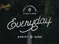 Everyday Script - Available on Creative Market