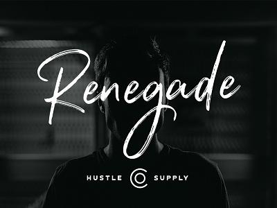 Renegade - Hand Painted Signature Script typography typeface font wedding cursive script brush hand lettering lettering