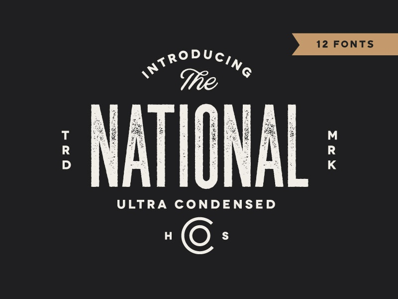 *NEW* The National - Ultra Condensed Type Family free font typeface texture letterpress ultra condensed condensed font vintage