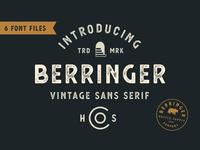 *NEW* Berringer - A Vintage Sans Serif
