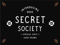 Secret Society - Vintage Spur Serif Typeface