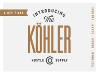 "Introducing ""Kohler"" a condensed Sans Serif"