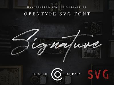 JV Signature OpenType SVG Script svg svg font typeface font signature script autograph brush logo calligraphy signature signature logo