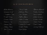 JV Signature OpenType SVG Script