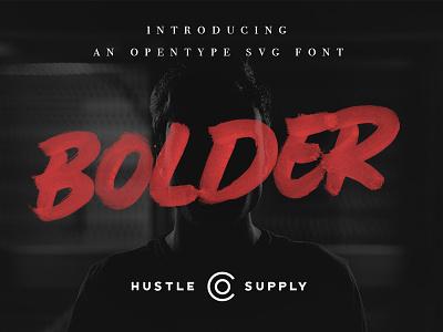 Bolder - An Opentype SVG Font brush font typeface font wordmark calligraphy logo hand lettering brush lettering marker svg font opentype svg