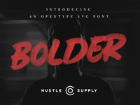 Bolder - An Opentype SVG Font