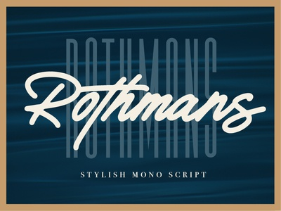 Rothmans - Available for sale on creative market