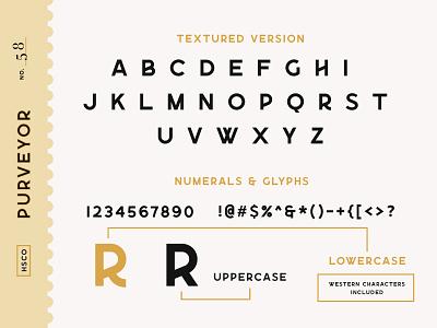 Purveyor - 8 Fonts Included typeface font type typography vintage logo whiskey label retro sans serif vintage