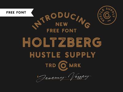 Holtzberg Dribbble free typeface type design logo design retro badge stamp vintage branding vintage label vintage logo typography free fonts free font