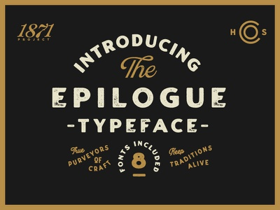 Introducing Epilogue - A Vintage Sans Serif badge label texture wordmark branding logo typeface retro lettering font typography vintage