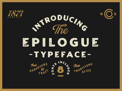 Introducing Epilogue - A Vintage Sans Serif