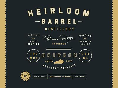 Flintstock - A Vintage Industrial Display Font vintage label industrial font liquor label bourbon distillery typeface retro lettering font typography vintage