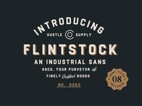 Flintstock - A Vintage Industrial Typeface