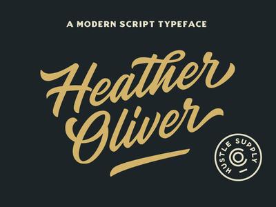 Heather Oliver - A Modern Script Typeface