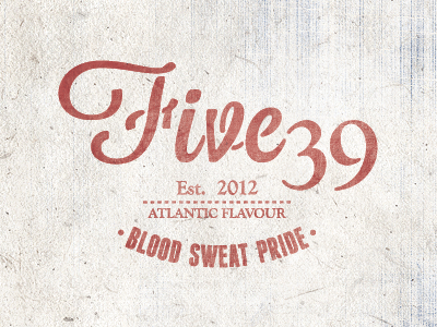 Five 39 Co. apparel t shirt brand logo rustic atlantic texture retro vintage clothing wordmark stamp mark