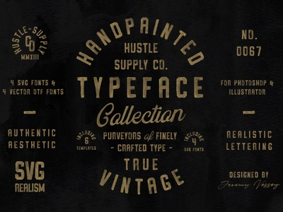The Hand Painted Typeface Collection svg font lettering badge wordmark hand lettering script label type branding typeface retro font typography vintage