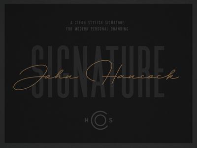 HSCO John Hancock |  A Signature Typeface