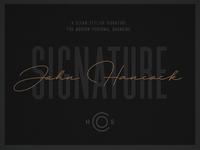 HSCO John Hancock    A Signature Typeface
