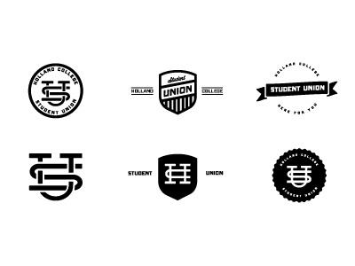Student Union Mark college athletics vintage retro crest emblem marks icons logos wordmarks stamps logo