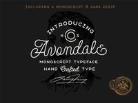 Avondale - A Monoline Font Duo