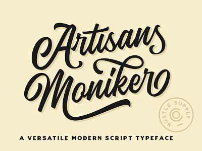 The Artisan's Moniker - A Versatile Script Typeface label baseball vintage script logotype calligraphy cursive script wordmark hand lettering lettering font lettering logo
