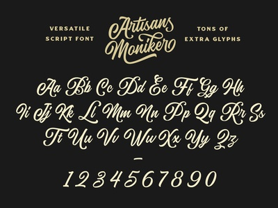 The Artisan's Moniker - A Versatile Script Typeface