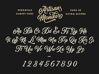 The Artisan's Moniker - A Versatile Script Typeface vintage baseball brush script cursive script typography lettering type lettering artist lettering calligraphy hand lettering