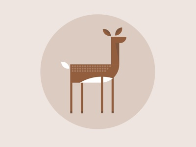 Deer Illustration animal logos doe geometric deer minimalist illustration animal logo flat illustration deer icon deer illustration deer logo